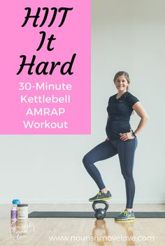 HIIT it Hard with this Kettlebell Workout! This workout is a great beginner workout or for anyone who is getting started with strength training! It's a full body workout that combines strength training exercises with HIIT cardio bursts! Arm Pit Fat Workout, Kettlebell Workout Video, Amrap Workout, Flat Belly Workout, Kettlebell Training, Kettlebell Swings, Kettlebell Challenge, Kettlebell Benefits, Prenatal Workout