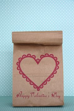 Free Printable Valentine lunch bags
