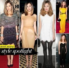 Today we are pleased to shine a light on the stunning and stylish star of Damages, Rose Byrne! Rose Byrne Hair, Rose Byrne Style, Celebrity Style Inspiration, Fashion Inspiration, Celebs, Celebrities, Fashion Books, Her Style, Dress To Impress