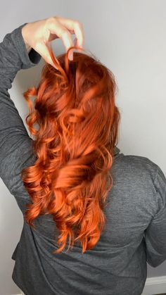 #redhair Blonde Hair With Highlights, Brown Blonde Hair, Peekaboo Highlights, Purple Highlights, Hair Color Auburn, Red Hair Color, Orange Ombre Hair, Red To Blonde Ombre, Burnt Orange Hair Color