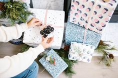 Here are three easy and creative ways to top your gift wrap this season for an extra festive touch…