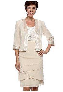 Mother of The Bride Flattering Champagne Chiffon Dress Longer Jacket Plus 22W | eBay
