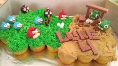 Angry Birds cupcake cake!