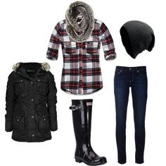 Rainy day outfit.... Or cute for football game