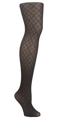 Dark patterned tights.
