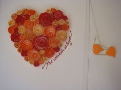 Quilling Orange Heart from www.universodepapel.es