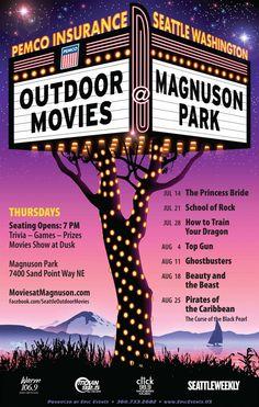 Movies at Magnuson - outdoor movie ideas