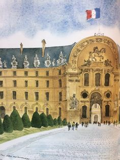 Illustration by David Gentleman from his book 'Paris'. A real masterpiece of watercolour! #Art