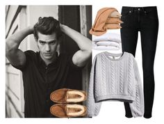 """At home with him"" by carmelia-castro-madero ❤ liked on Polyvore featuring Levi's Made & Crafted, H&M, UGG Australia and Scapa Home"