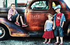 Reds and denims---classic and vintage!