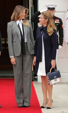 Melania Trump style: See what (and who) the first lady has been wearing - Foto 42 Milania Trump Style, Ivanka Trump Dress, Trump Is My President, First Lady Melania Trump, Ralph Lauren Collection, Fashion Outfits, Womens Fashion, Business Fashion, How To Wear
