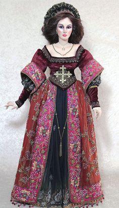 "Anne Boleyn 42"" tall by Sylvia Weser.  White Limoges porcelain."
