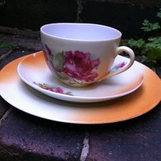 Wild Rose Hand Painted Trio c.20/30s by VintageShabbyCrafty