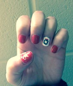 Christmas wreath and bow nails!