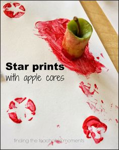 Apple core star stamp- easy for little fingers to grasp!