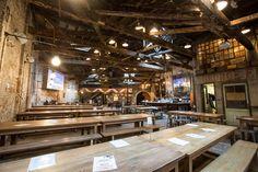 Houston Hall - massive beer hall in NYC