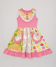 Look at this #zulilyfind! Pink Ramona Dress - Infant, Toddler & Girls #zulilyfinds