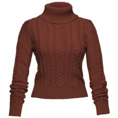Cosy longsleeved turtleneck made from a chunky cableknit with ribbed collar, cuffs and hem. Ribbon Skirts, Working Man, Ribbed Turtleneck, Winter Collection, Knitwear, Turtle Neck, Pullover, My Style, Long Sleeve
