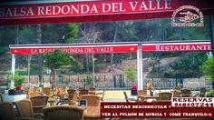 ¿ necesitas desconectar de la rutina de la semana? ¿quieres tomarte un respiro en el pulmón de Murcia? Ven y come tranquil@ en La Balsa Redonda del Valle, Reserva ya 968607244