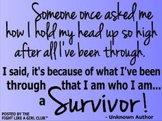 I am a SURVIVOR - that is why I am single and happy!!!!!