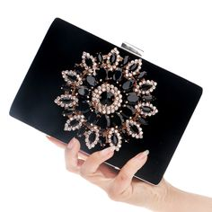 2016 New Single Side Sun Diamond Crystal Evening Bags Clutch Bag Hot Styling Day Clutches Lady Wedding woman bag Free Shipping #eveningbag #partybag #miniclutch