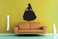 Princess Belle Silhouette  Wall Vinyl  Medium by WallsOfText, $18.95