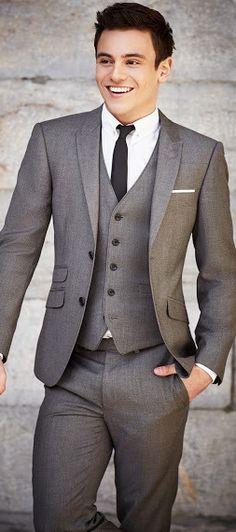 2019 New Mens Wedding Suits Groom Tuxedos Business Suit (Jac.- 2016 New Mens Wedding Suits Groom Tuxedos Business Suit (Jacket+Pants+Vest+Tie) - Mode Masculine, Suit Fit Guide, Terno Slim, Vest And Tie, Suit Pattern, Fashion Mode, Fashion 2018, 80s Fashion, Work Fashion