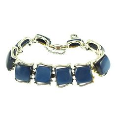 Vintage Coro Dark Blue Moonglow Bracelet