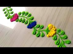 Rangoli designs in 2 minutes/small and everyday border rangoli designs by jyoti Rathod - YouTube