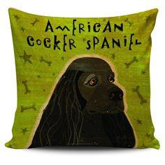 Pillow Cover - American Cocker Spaniel Portrait