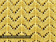 A collection of beautiful knitting stitches featuring lace and eyelets for knitters of all levels, including written instructions and chart patterrn Lace Knitting Stitches, Spool Knitting, Knitting Charts, Stitch Patterns, Knitting Patterns, Lace Patterns, Knitted Blankets, Le Point, Crochet Yarn
