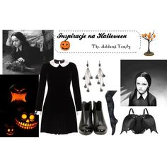 """halloween inspirations - Wednesday Addams costume"" by kassildah on Polyvore"