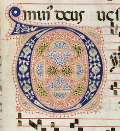 Iniziale D autore: Calligrafo fiorentino (bottega del Torelli?) tecnica: inchiostro e penna