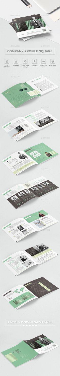 Company Profile Square Brochure