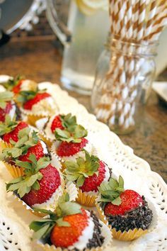 Dipped Strawberries from an Enchanted Forest Woodland Birthday Party via Kara's Party Ideas KarasPartyIdeas.com (11)