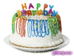 Happy Birthday - 3D live Greeting Card with Glitter Graphics