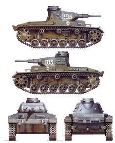 Sd.Kfz. 141  Pz.kpfw. III (Panzerkampfwagen III) Ausf. F mit 5 cm KwK 38