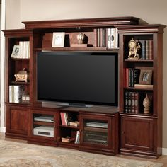 ... Premier Amor 4 Piece EXPANDABLE Entertainment Wall Unit Vintage Cherry