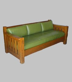 Arts & Crafts - Mission Oak -  Settle - Couch - Charles Limbert