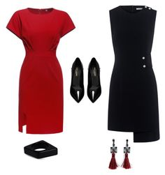 A fashion look from November 2016 featuring red dresses, short-sleeve shift dresses and high heel stilettos. Browse and shop related looks. Finders Keepers, Marni, Yves Saint Laurent, Shoe Bag, Polyvore, Stuff To Buy, Shopping, Collection, Design