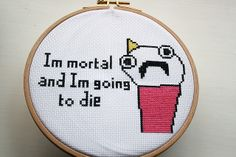 "I wish I could design cross stitches because ""Clean all the things"" needs to be stitched."