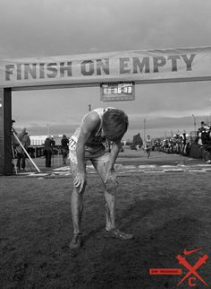 Inspirational Running Quotes For When Your Tank Is Empty:Finish on empty For more visit: http://www.fuelrunning.com/quotes/2014/08/11/inspirational-running-quotes-for-when-your-tank-is-empty/