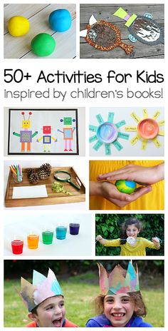 Exploring Books Through Play: 50 activities based on popular children's books! You'll find science activities, sensory play ideas, crafts, math activities and more! ~ BuggyandBuddy.com