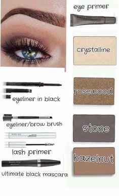 Mary Kay mineral eye colors, eye primer, eyeliner, eyeliner/brow brush www.marykay.com/mstltowers