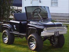 Custom Golf Cart Bodies, Custom Golf Carts, Hummer Golf Cart, Golf Cart Body Kits, 56 Ford F100, Custom Body Kits, Old Bronco, F100 Truck, Golf Carts For Sale