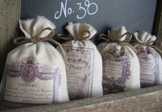 Lavender Sachets Vintage French Perfume Labels by AbundantHaven