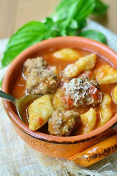 Spicy Meatball & Gnocchi Soup | from willcookforsmiles.com