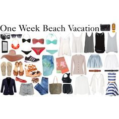 One Week Tropical Vacation Packing List by diamte featuring nike activewear A quick packing list for those of you gearing up for a week in the sun (on a beach, cruise, wherever the sun shines) Camera,. Packing List For Vacation, Vacation Outfits, Summer Outfits, Cute Outfits, Packing Tips, Beach Outfits, Travel Packing, Airport Fashion, Fashion Clothes