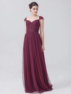 Elegant tulle purple bridesmaid dress (my second favorite)