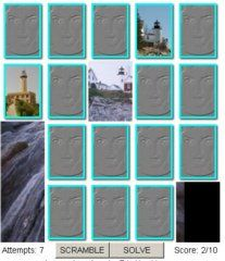 Cyberlights Lighthouses Concentration Game--play online.